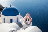 Blue Domed Church in Oia, Greece