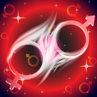 vector background: venus mars male and female symbol