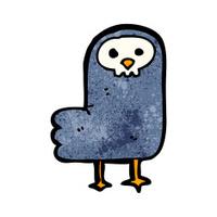 spooky halloween crow cartoon