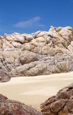 sand rock and sky