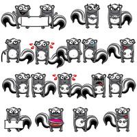 Smiley skunks