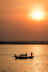 Sunrise on the Tonie Sap River
