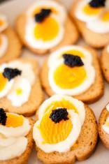 Caviar on a toast