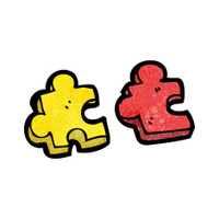 jigsaw puzzle piece cartoon