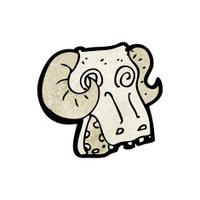 spooky ram skull cartoon