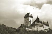 Czech royal castle Carlstejn (toned)