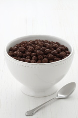 Delicious cocoa cereal