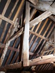 Old roof beams