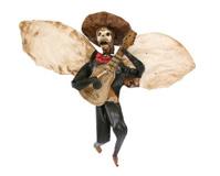 Rustic Paper Mariachi Skeleton