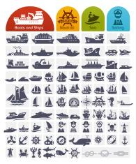 Ships and Boats Icons Bulk series