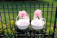 Wedding decoration for garden reception