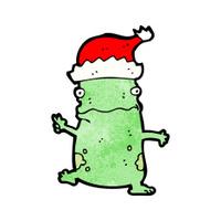 cartoon christmas party frog