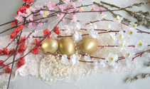 Easter egg fabric lace