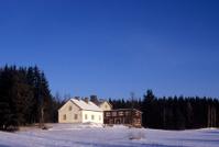 winter european house