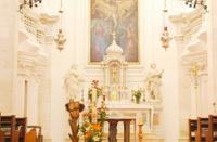 Baroque interior of St Mary's Church, City of Zadar