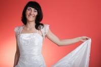 Happy smiling bride