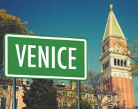 street sign of venice