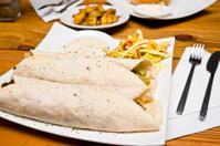 Delicious Burrito Meal