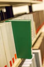plain book in a bookshelf