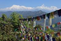 Buddhistische Gebetsfahnen in Nepal