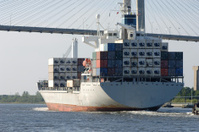 Cargo Ship enters Port
