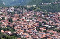 Looking to the Sarajevo city