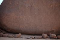 Prähistorische Felszeichnung in der Sahara