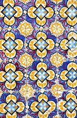 Traditional portuguese tiles, azulejos, in Algarve