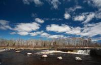 Rainbow Falls in Whiteshell Manitoba
