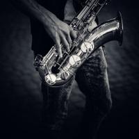 street saxophonist detail