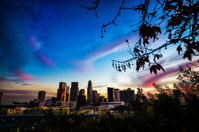 LA city at dusk