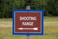 Shooting Range Sign