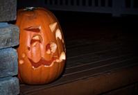 Jack-o-Lantern on Porch