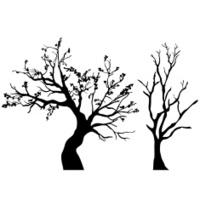 Tree silhouettes set.