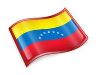 Venezuela Flag icon, isolated on white background.