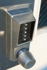Electronic Keypad on Door