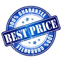 Best price guarantee stamp.
