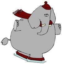 Elephant On Ice Skates