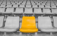 highlighted yellow stadium seat