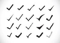 true sign confirm icons set