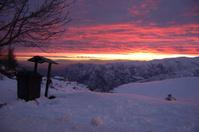 Snow Sunset Landscape