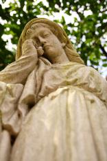Sad angel crying