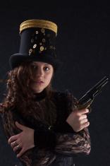 Brunette Steampunk Gunfighter