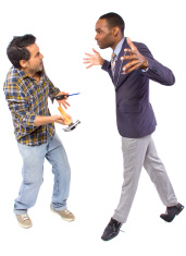 Abusive Boss Bullying a Blue Collar Handy Man