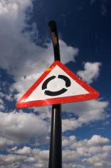 Vandalised Roundabout sign