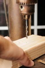 Using drill press on wood