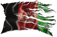 Afghanistan Flag Torn & Dirty