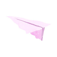 cartoon paper aeroplane