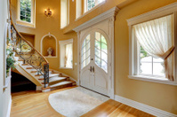 Luxury house interior. Entrance hallway