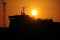 Ship sunset, U.K.